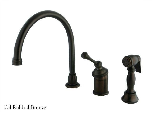 Picture of Kingston Brass Georgian Gooseneck Kitchen Faucet with Spray