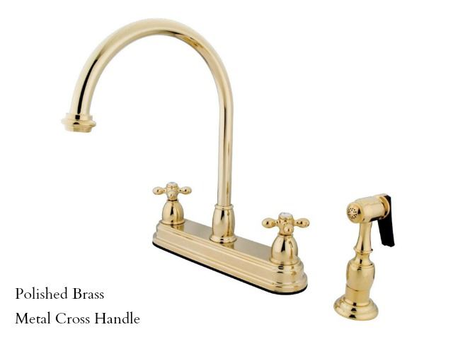 "Picture of Kingston Brass Restoration 8"" Centerset Kitchen Faucet with Spray"