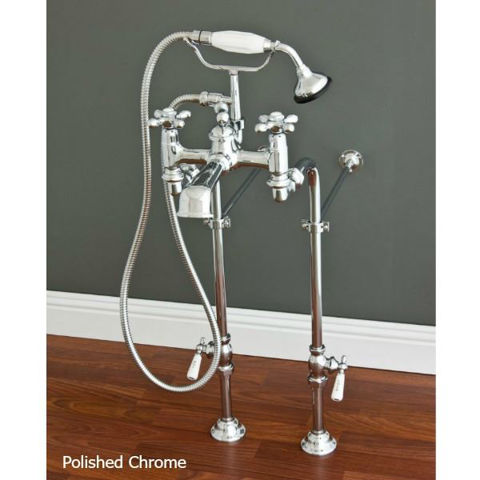 Tub Filler   Widespread with Hand Shower