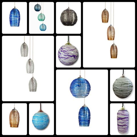 Spun Glass Pendant Light | Smokey II