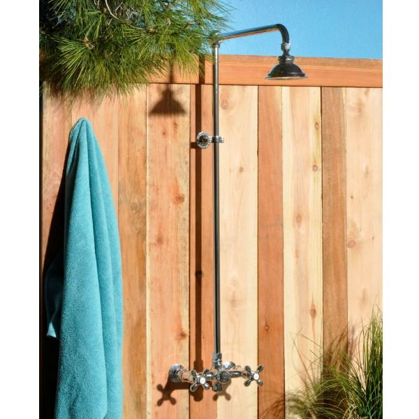 Picture of Strom Plumbing Wall-Mounted Outdoor Shower System
