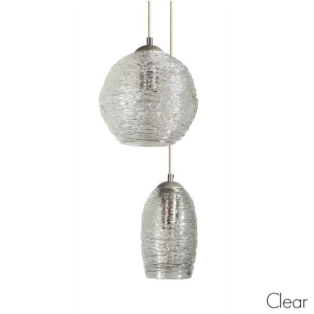 Picture of Spun Glass Pendant Light | Clear I
