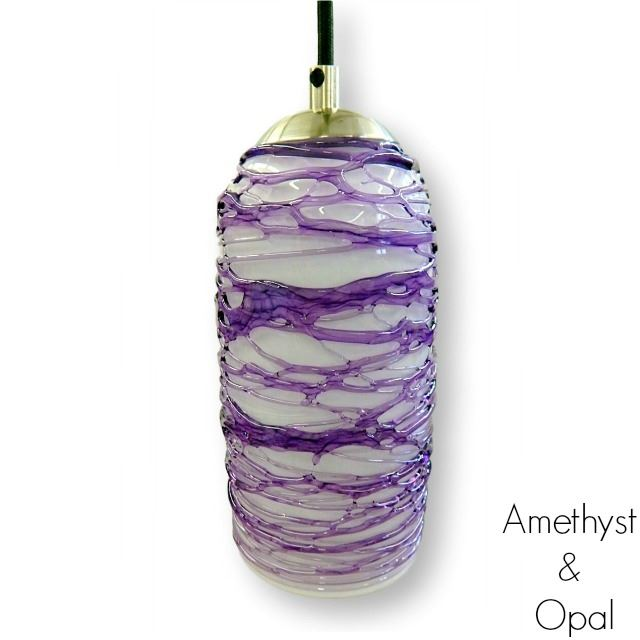 Picture of Spun Glass Pendant Light   Amethyst I