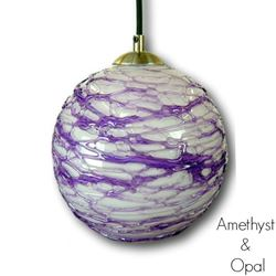 Spun Glass Pendant Light | Amethyst II
