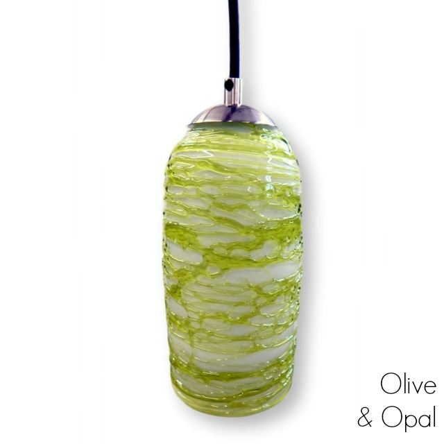 Picture of Spun Glass Pendant Light | Green I