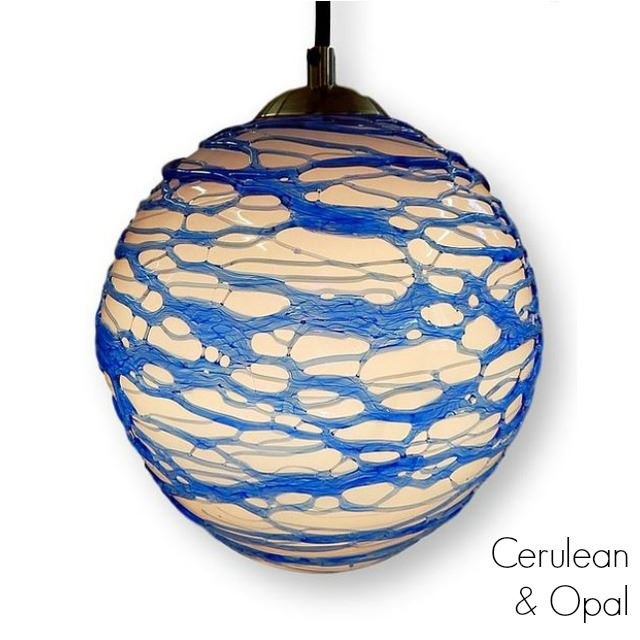 Picture of Spun Glass Pendant Light | Cerulean II