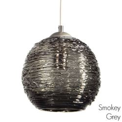 Spun Glass Pendant Light | Smokey I