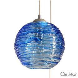 Picture of Spun Glass Pendant Light | Cerulean III