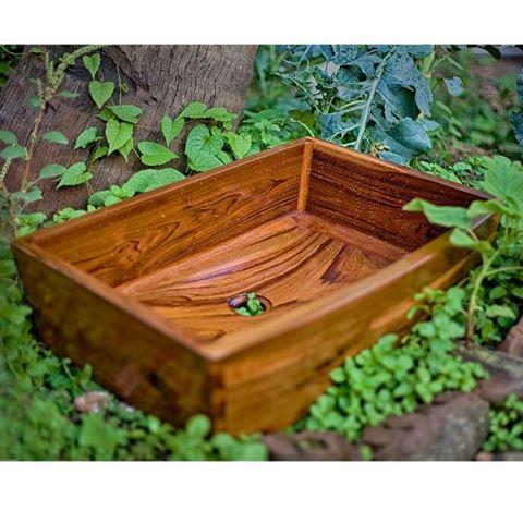 Teak Wood Bath Sink by Solli Concepts - T2