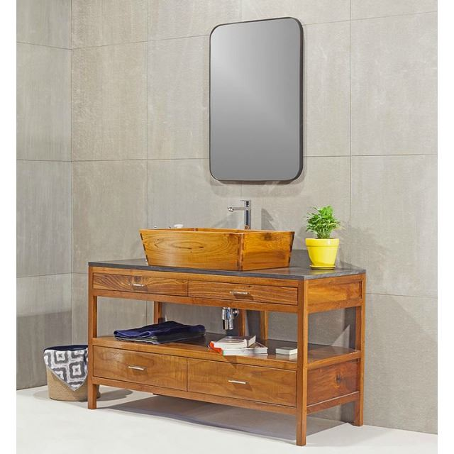 Picture of Teak Wood Bath Sink by Solli Concepts - T2