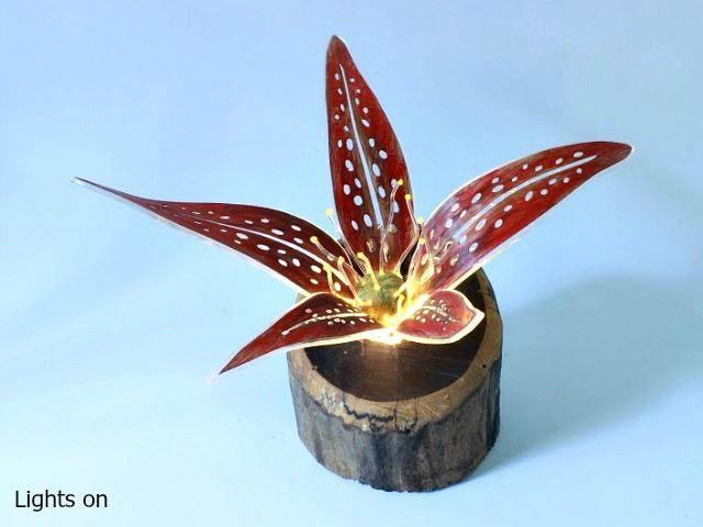 Picture of Unique Lamps   Mars Bloom - Red
