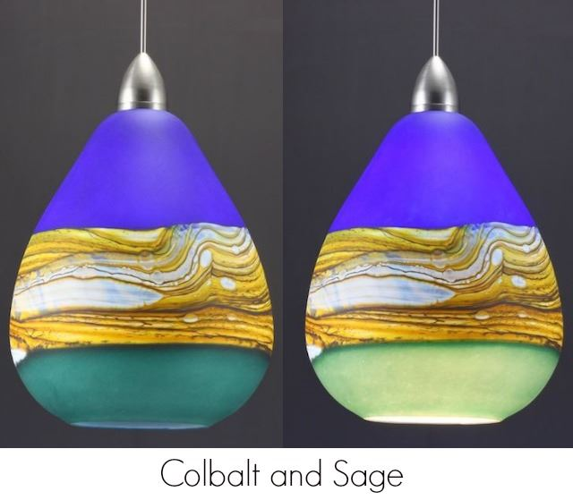 Picture of Blown Glass Pendant Light - Create Your Own Teardrop Strata