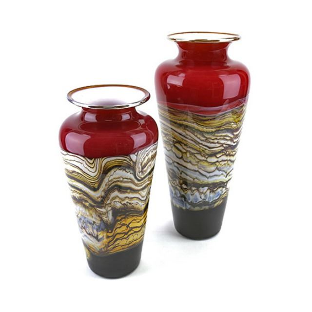 Picture of Blown Glass Vase   Ruby Strata
