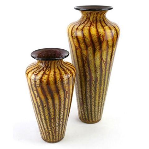 Blown Glass Vase   Batik
