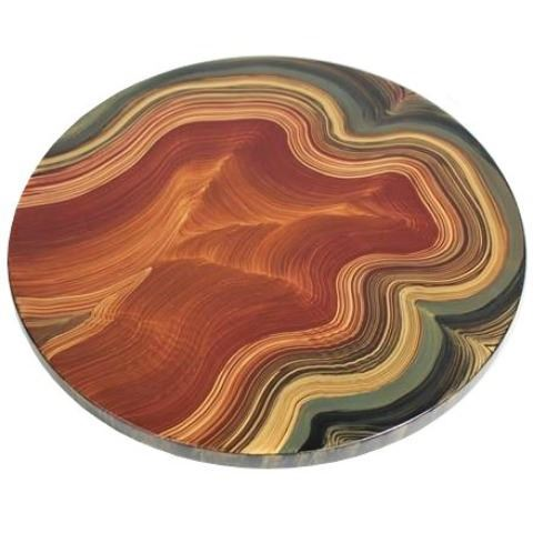 Grant-Norén Lazy Susan - Malakite in Amber and Sage