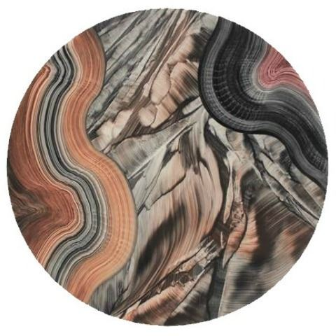 Grant-Norén Lazy Susan - Malakite with Black, White, and Brown
