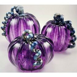 Picture of Plum Glass Pumpkin