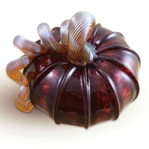 Cranberry Glass Pumpkin