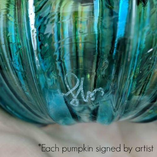 Picture of Frosted Candy Glass Pumpkin