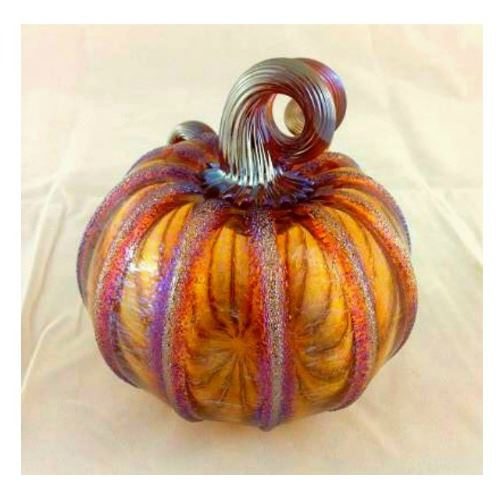 Picture of Frosted Harvest Glass Pumpkin