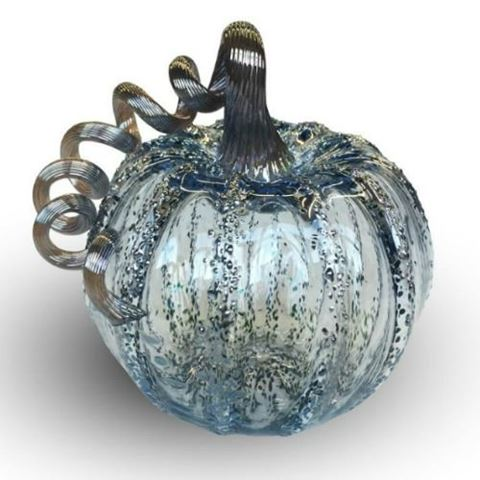 Happily Ever After Glass Pumpkin