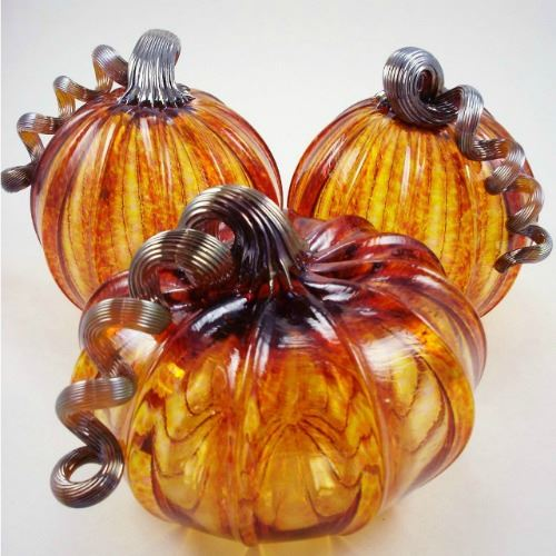 Picture of Harvest Glass Pumpkin