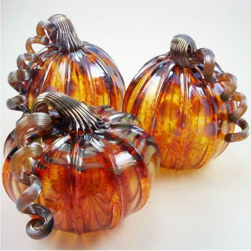 Picture of Harvest Gold Glass Pumpkin