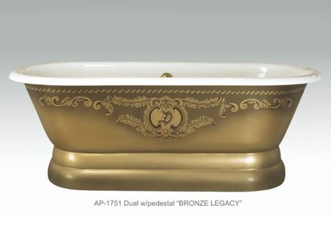 Bronze Legacy Design on Imperial Dual Roll Rim Bath Tub