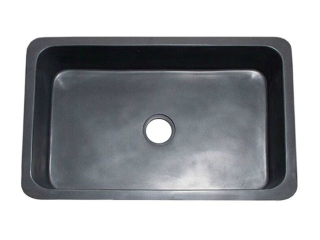 """Picture of 33"""" Black Lava Single Well Farmhouse Sink"""