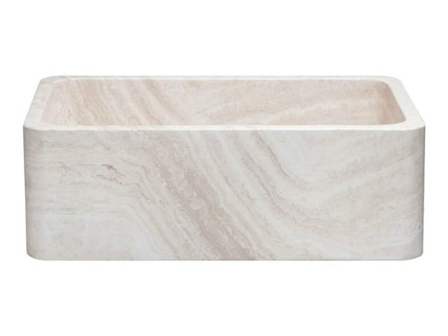 """Picture of 30"""" Travertine Single Well Stone Farmhouse Sink"""