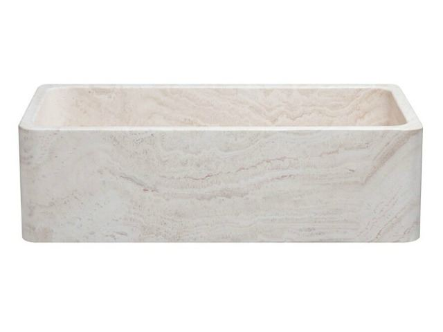 "Picture of 36"" Travertine Stone Farmhouse Kitchen Sink"
