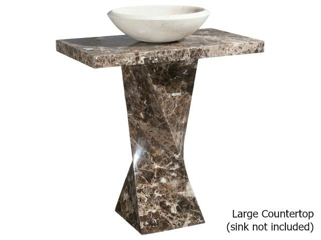 Picture of Helical Pedestal - Emperador Dark Marble