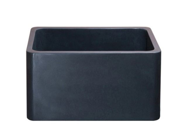 "Picture of 17"" Black Lava Stone Bar Sink"