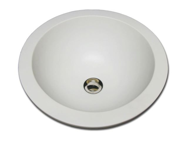 "Picture of Marzi 16"" Self-Rimming Round Ceramic Sink with Flat Rim"