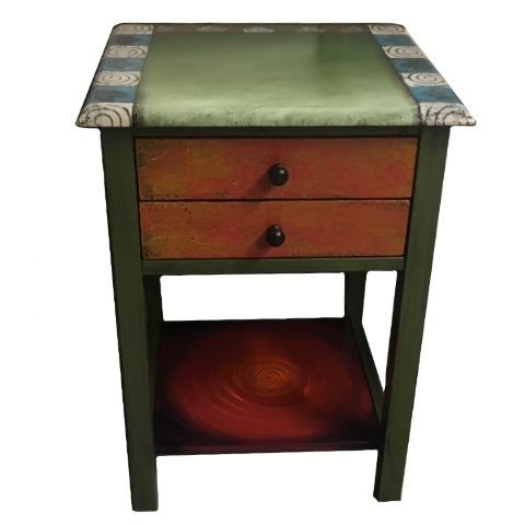 Hand Painted End Table 1
