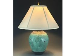 Picture of Botanical Table Lamp in Green