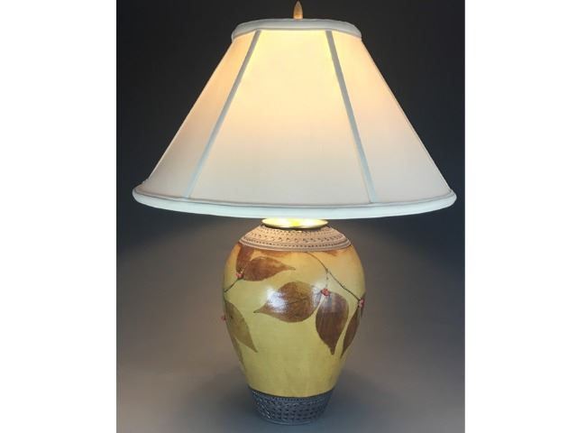 Picture of Botanical Table Lamp in Amber
