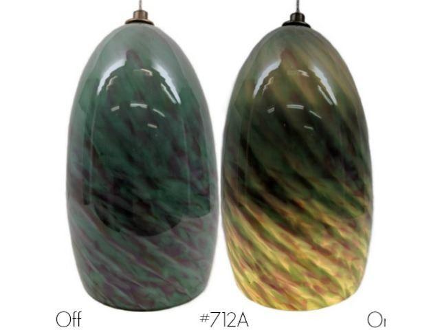 Picture of Blown Glass Pendant Light | Jade Sunset