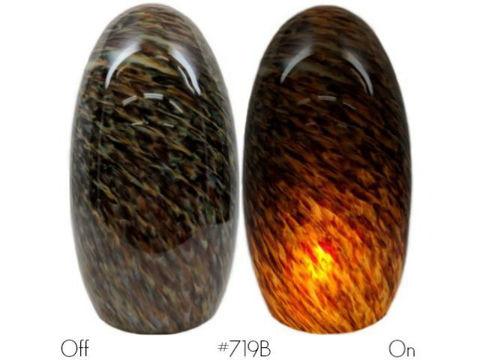 Blown Glass Pendant Light   Granite Gold