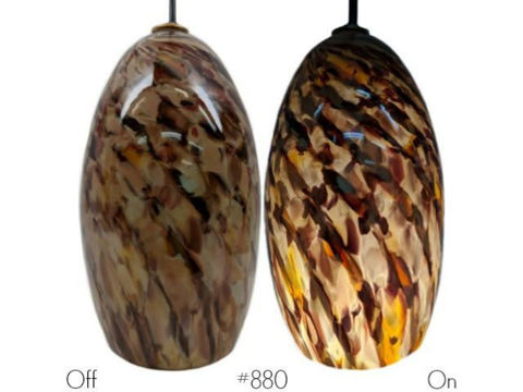 Blown Glass Pendant Light | Sandy Rose