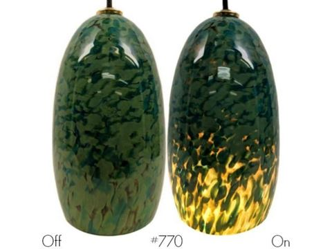 Blown Glass Pendant Light | Lily Pond
