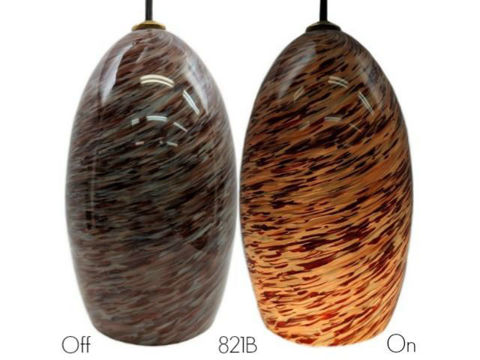 Blown Glass Pendant Light | Ruby
