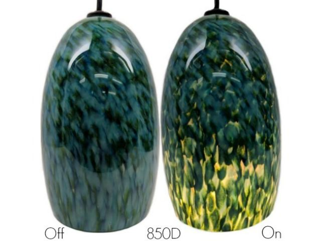 Picture of Blown Glass Pendant Light | Peacock