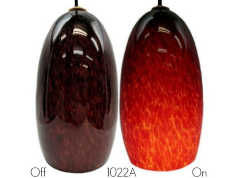 Blown Glass Pendant Light   Cherry Cola