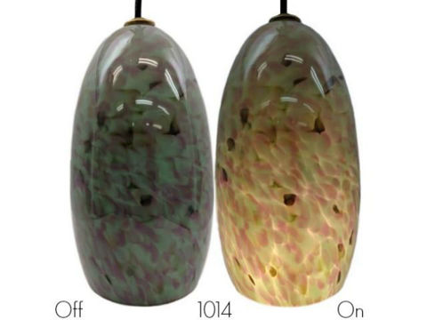 Blown Glass Pendant Light | Lavender