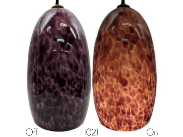 Picture of Blown Glass Pendant Light | Plum