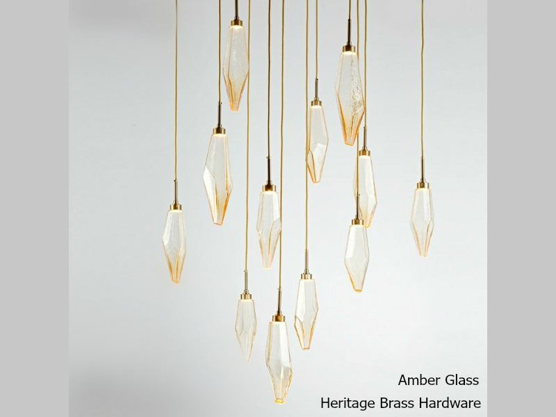 Picture of Rock Crystal Square Multi-Port Pendant Chandelier 12 pc
