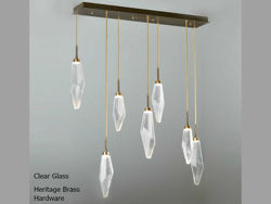 Picture of Linear Chandelier | Rock Crystal | 7 pc