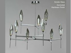 Picture of Rock Crystal Round Belvedere Chandelier 54""