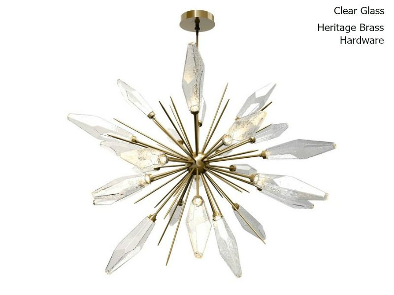 Picture of Rock Crystal Starburst Chandelier 60""